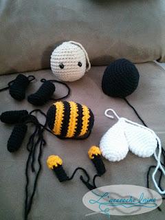 L'accroche laine - Abeille