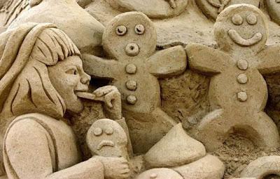 Escultura de arena galletas de gengibre