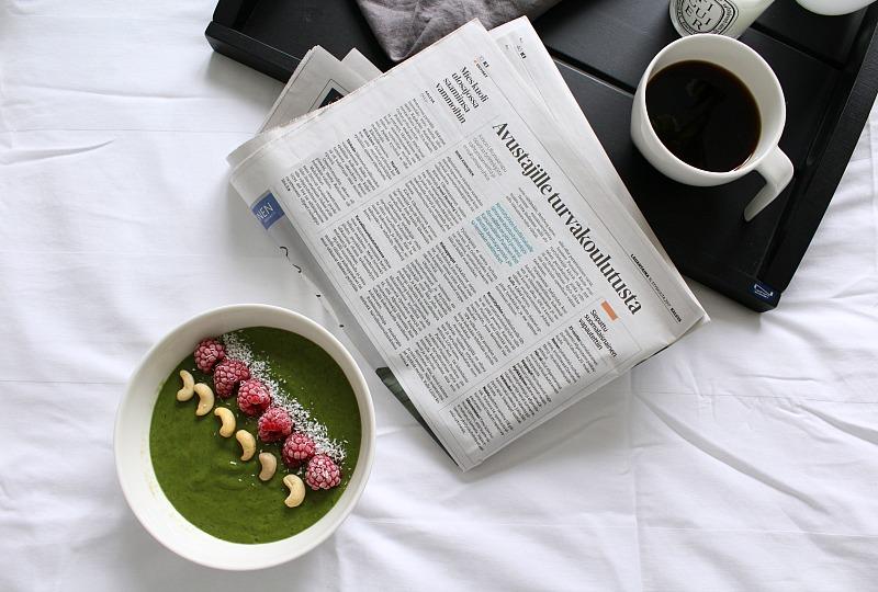 vihersmoothie aamupala