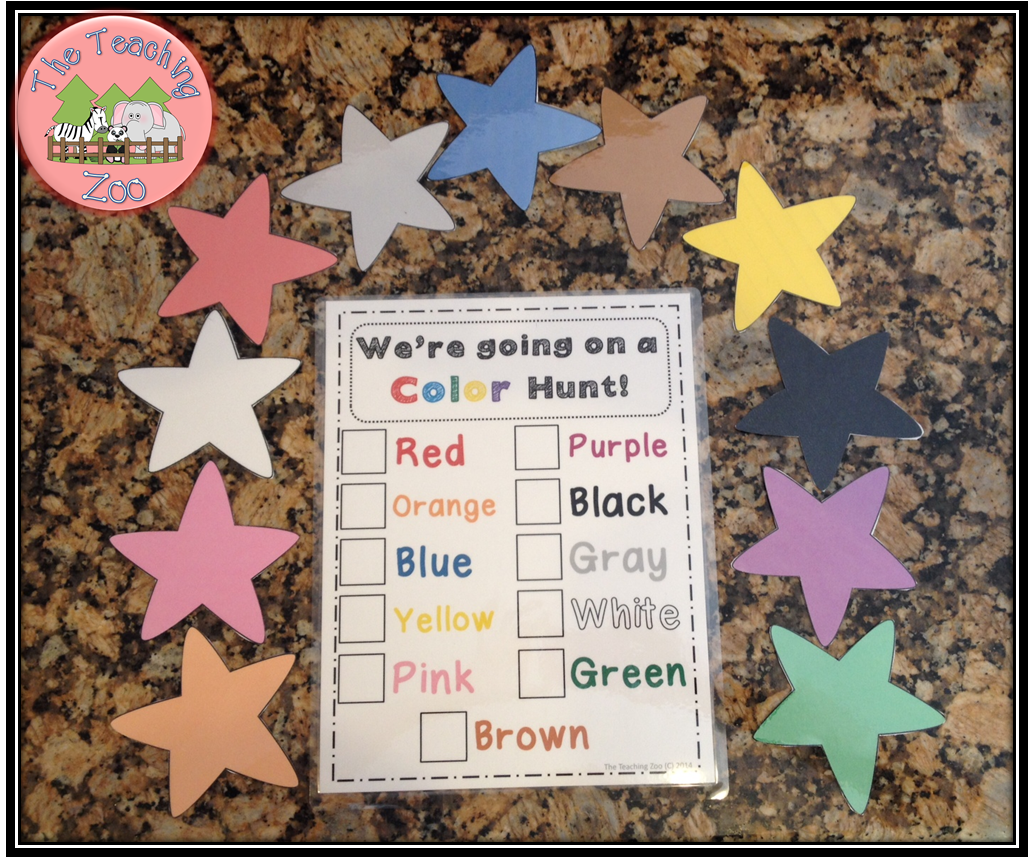 http://www.teacherspayteachers.com/Product/Were-Going-on-a-Color-Hunt-1321260