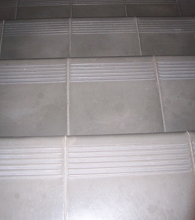 Avente Tile Talk Cement Tile Stair Treads Provide A Great