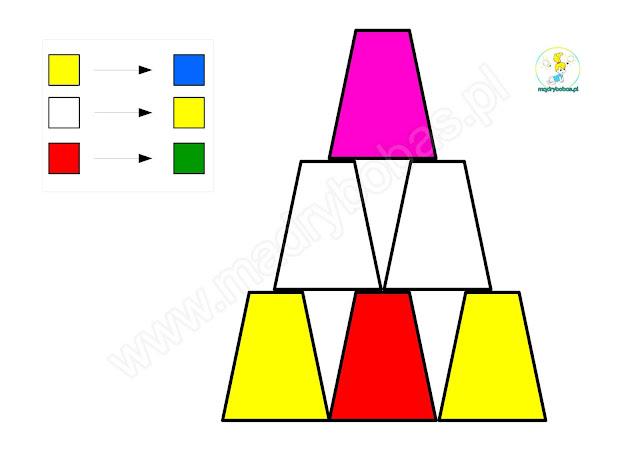 piramidy z kubków, kodowanie dla dzieci, kodowanie z kubeczkami, kodowanie na dywaniejednorazowymi