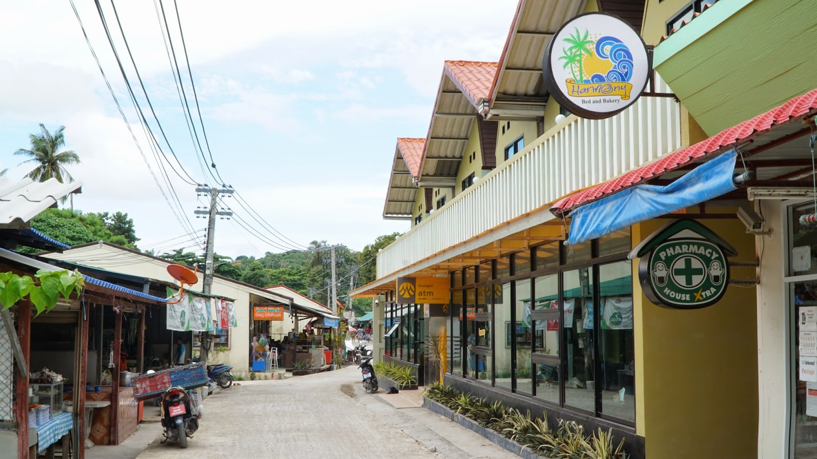 Harmony Bed & Bakery, the place I stayed in Koh Lipe. Everything is super pricey in Koh Lipe, especially in high season, and that includes accommodation