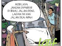 Komikstrip Sindiran Buat Yang Tidak Punya Parkiran Mobil