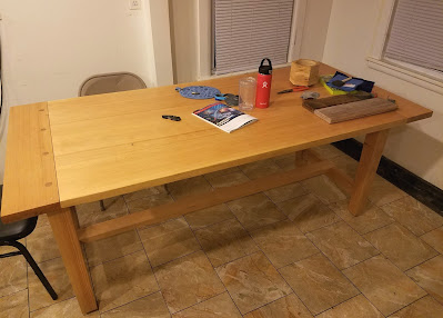 wooden pine dining table