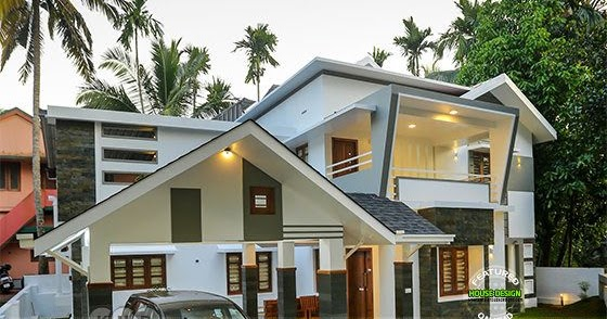 Interior and exterior photos of finished house in kerala for House plans with finished photos