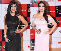 Shibani Kashyap and Akriti Kakkar at the Red Carpet of Zee Awards 2017i ~  Exclusive Galleries 019.jpg
