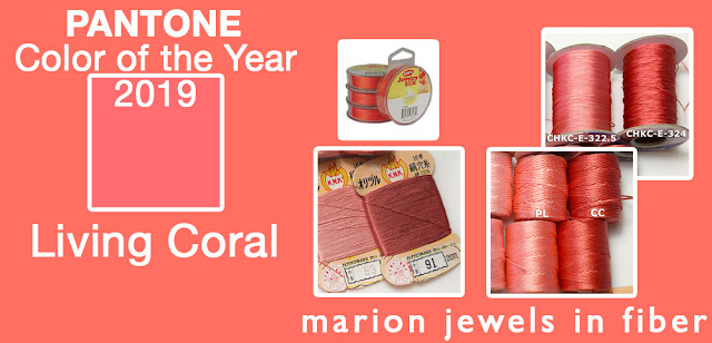 Pantone Color of the Year 2019 compared to C-Lon Bead Cord and More