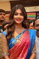 Puja Hegde looks stunning in Red saree at launch of Anutex shopping mall ~ Celebrities Galleries 018.JPG
