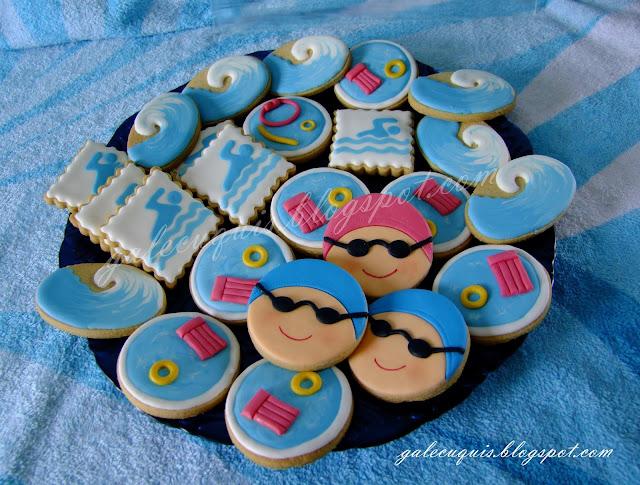 Galletas decoradas natación