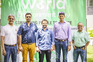 Venkatesh Prasad and Vijay Raghavendra join patrons and employees to celebrate World Environment Day 'Connecting People to Nature' at Signature club Resort, Brigade Orchards