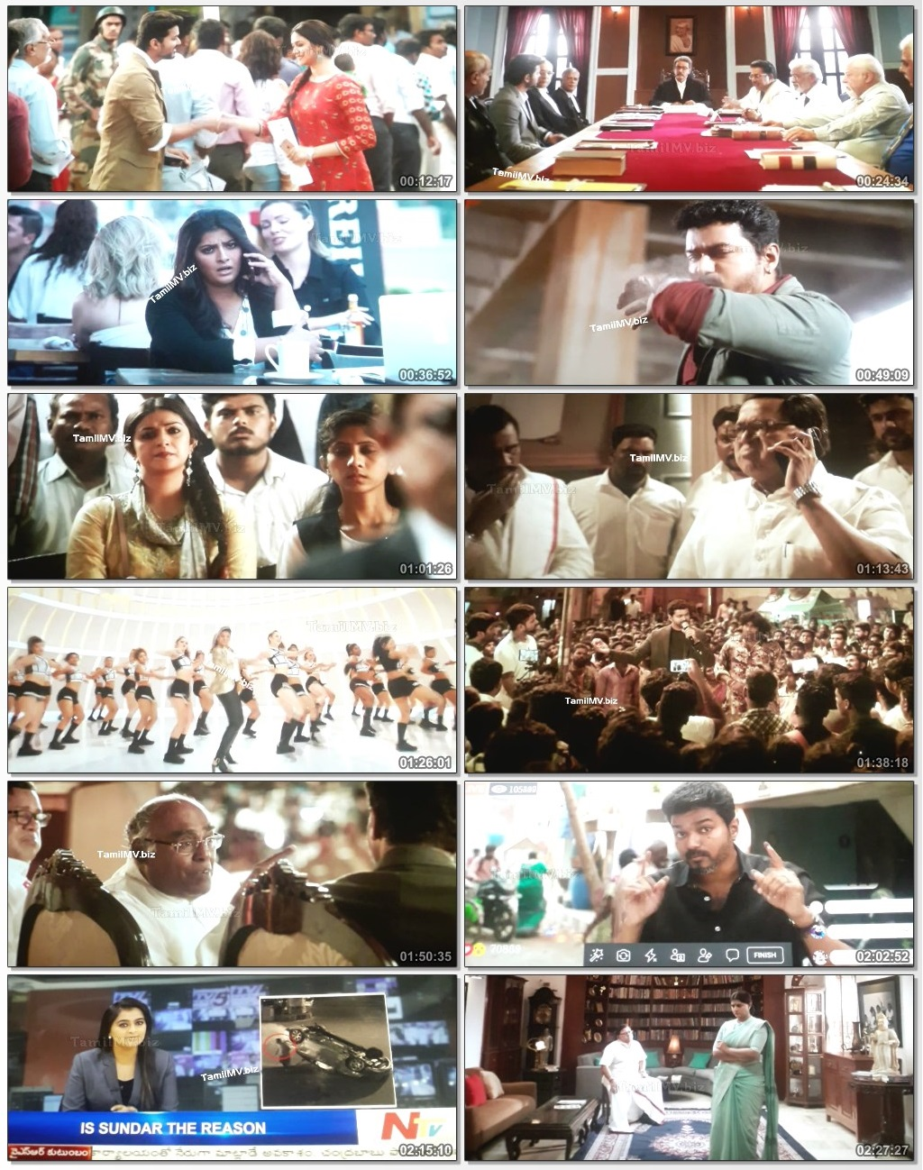 Sarkar (2018) Tamil Movie 720p Download DVDScr x264 1.4GB 3