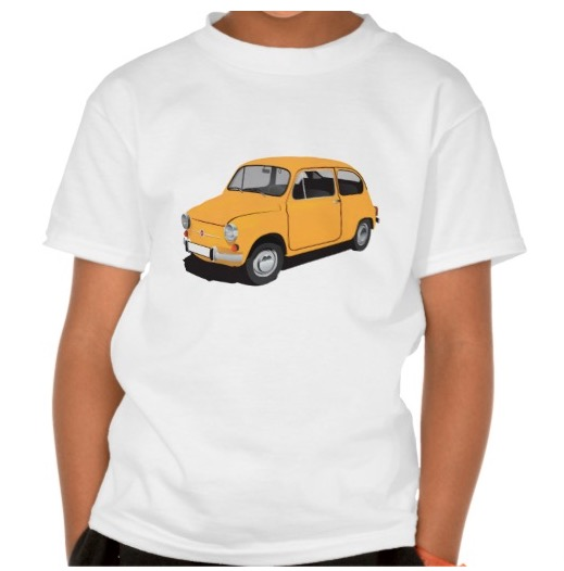 Cute Fiat 600 t-shirt yellow
