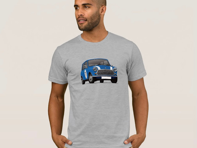 Blue Austin Mini - Morris Mini - T-shirts