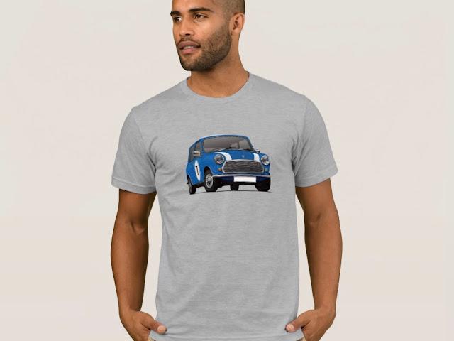 Blue Austin Mini - Morris Mini - T-shirts