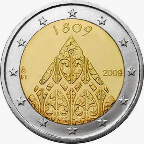 2 euro coins Finland 2009, 200 years of Finnish autonomy