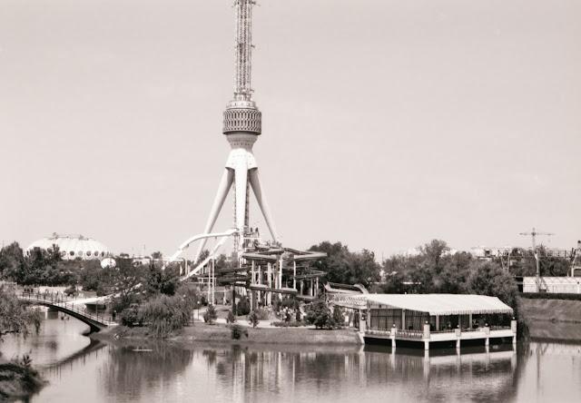 Ouzbékistan, Tachkent, aqualand, Tour de la Télévision, © Louis Gigout, 1999