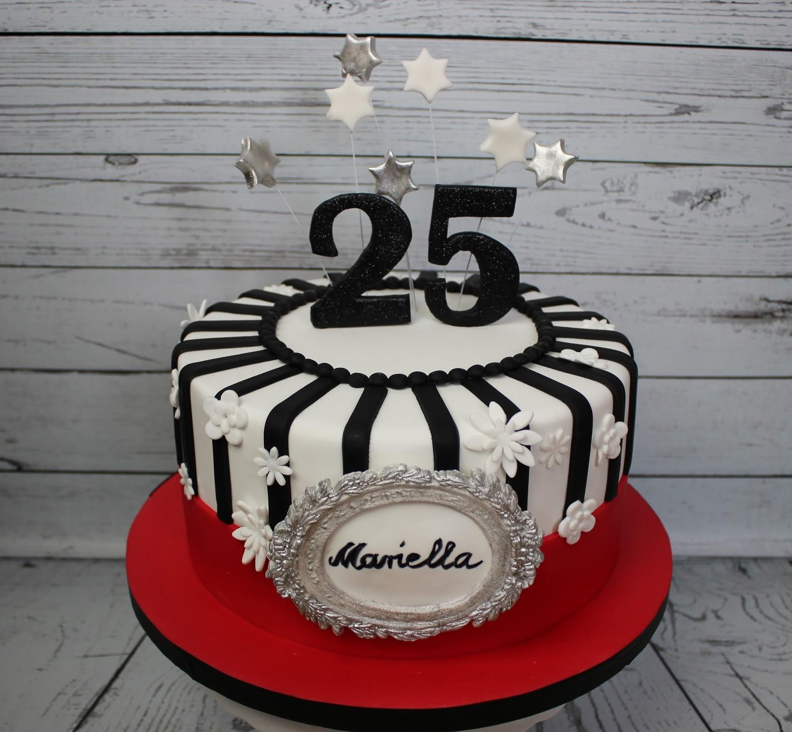 Torte zum 25 Geburtstag  Brigittes Tortendesign