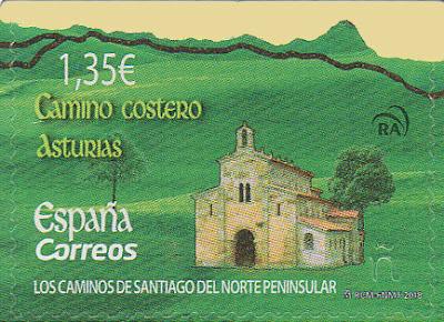 Sello Valdediós, Camino de Santiago del Norte