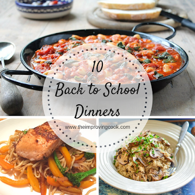 Photo Collage plus text for 10 back to school dinners