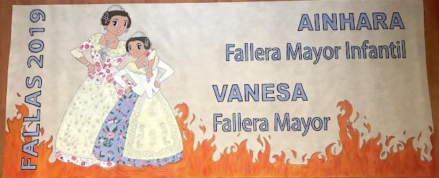 Alfombra para decorar el portal de casa Fallera Mayor