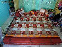 Sofa bed inoac motif new elve coklat