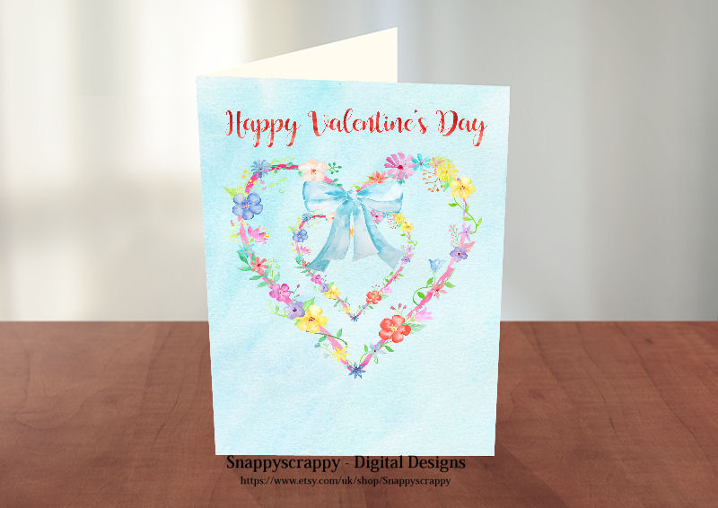 Snappyscrappys Digital Designs Print your own Card ToppersCard – Print Your Own Valentines Card