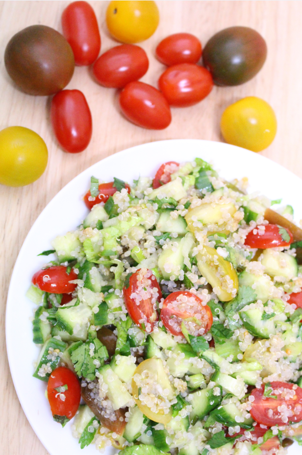 Tomato and Coriander Quinoa Salad