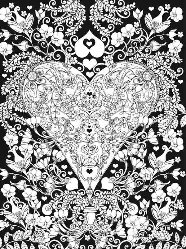 New 6 Free Valentines Heart Coloring Pages For Adults