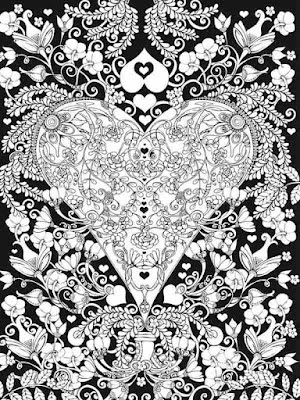 free valentines heart adult coloring pages