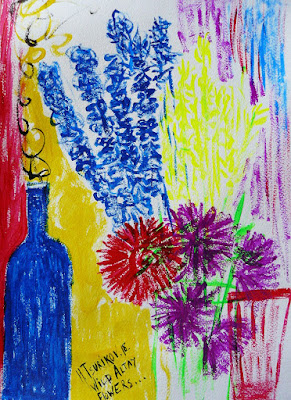 Modern Art - artist Ilya Tsurikov. Drawing: Wild Flowers.