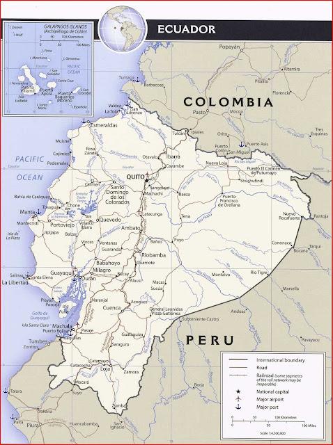 Gambar Peta Politik Ekuador