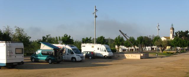 Zona d'estacionament de l'àrea