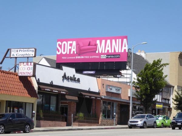 Pink Sofamania billboard