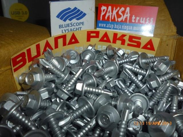 pemasangan sekrup baja ringan jual murah harga pabrik distributor screw mur baut skrup