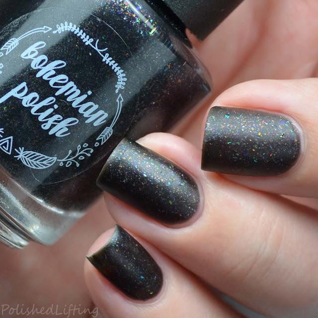 matte black nail polish
