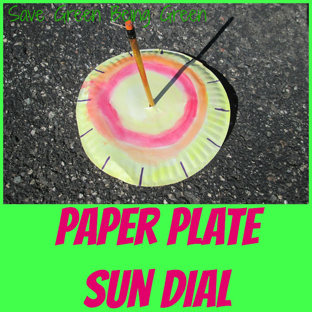 how to make a sundial with a paper plate