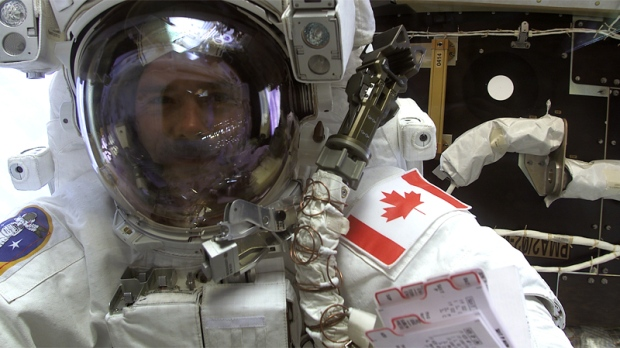 Chris Hadfield, first Canadian is space