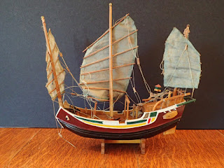 Model Chinese seagoing junk at Penobscot Marine Museum