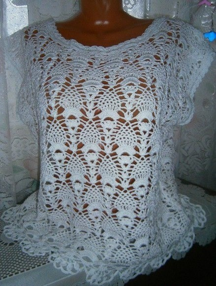 Beautiful Crocheted Blouse This Beautiful Model With Free Pattern