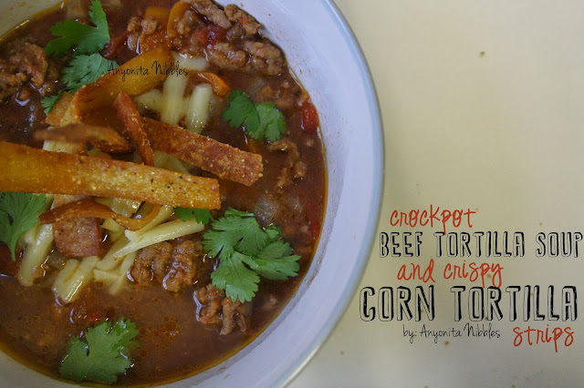 Crock Pot Beef Tortilla Soup