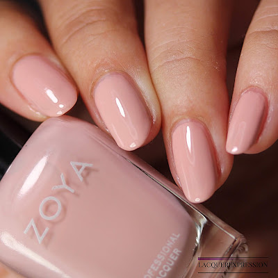 Nail polish swatch of  Avril from the Zoya Bridal Bliss collection