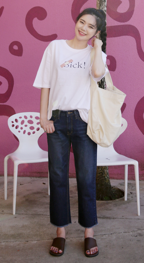 Sick Band-Aid Print T-Shirt