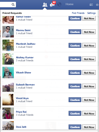 Accept all facebook friend requests automatically | BiggTrixS