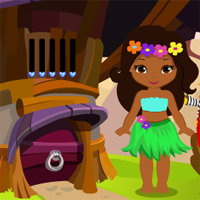 Play Games4King Cute Hawaiian …