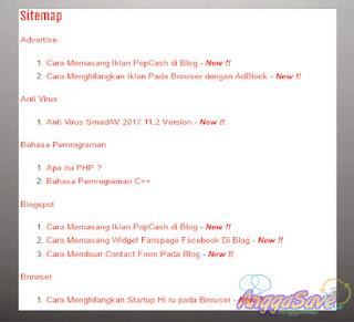 Bagaimana Cara Memasang Sitemap Otomatis Di Blog?