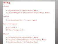 Cara Membuat Daftar Isi Blog (Sitemap) Otomatis Sesuai Label Di Blogspot
