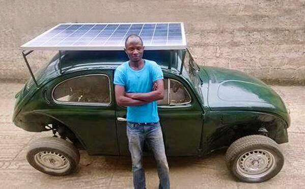 Innovation: Nigerian Student Built Solar Powered Car