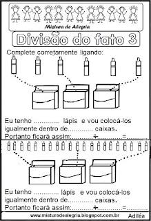 Divisão do fato 3 ilustrada