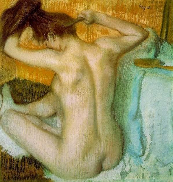 Mulher Penteando o Cabelo - Edgar Degas e suas principais pinturas ~ O Pintor de Bailarinas